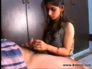 Indian Girl with her own uncle blowing free