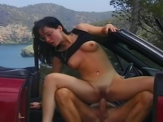 Brunette German girl gets real hardcore fuck and experiencing wet massage on...
