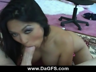 Dirty asian girlfriend with perfect big tits Mika Tan will suck any cock in...