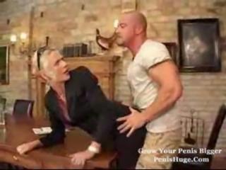 Mitzi fucked anal by bald guy 20min free