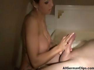 German Lady Teasing Cock Till Ejaculation  german ggg spritzen goo girls