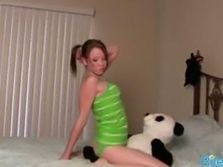 Sexy Teen Having Fun With Her Stuffed Toy