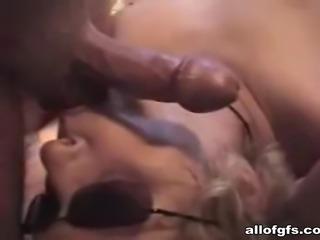 Huge cock eaten and licked till cumshot