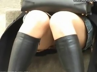 Upskirt sexy viewing girls street