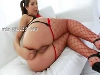 Babe with unbelievable anus fucked