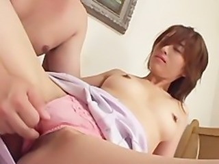 avmost.com  Pretty Japanese chick dick humping and blasted with mannaise