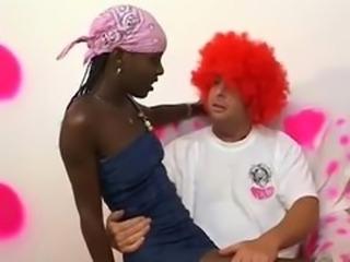 Horny Clown Fucks Skinny Ebony Teen