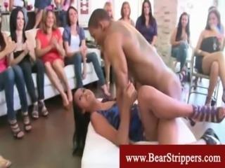Naughty black stripper seduces ladies cfnm free