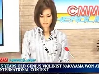 News anouncer Facial on TV