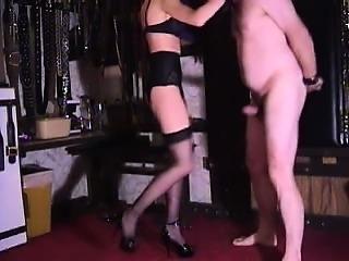 Hardcore mature dominatrix extreme cock and balls kicking fetish