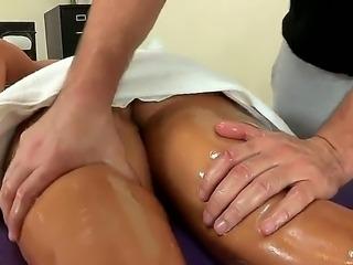 Manuel Ferrara touches gentle Avas big natural boobs during the professional...