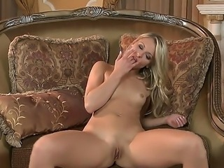 Marvelous blonde babe Lena Nicole is having the best time masturbating her pussy