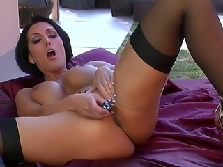 Sexy young babe Dylan Ryder is masturbating in her sexy black brand new...