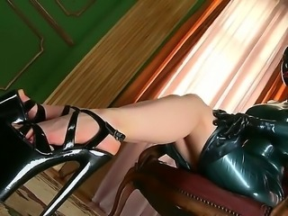 The lusty Latex Lucy returns  in a deliberately frightening black outfit that...
