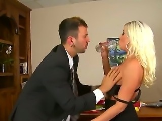 Experienced lusty blonde business women Britney