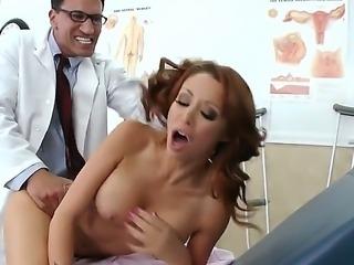 Horny doctor Marco Banderas teases and seduces hottie Monique Alexander into...