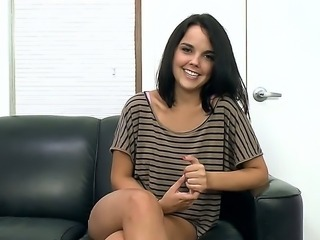 Amazing casting scenes with young Dillion Harper, who claims to have some...