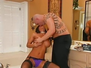 Asian hottie Christina Aguchi enjoys massive fucking from her stud Derrick...