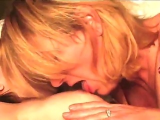 Filthy lesbian blonde milf and attractive