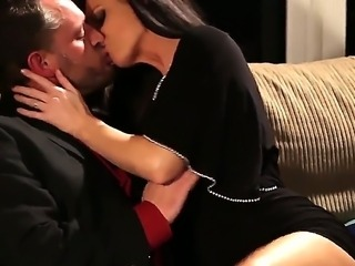 The attractive gorgeous brunette pornstar India Summer seduces her...