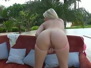 Beautiful blonde girl Danielle Maye likes masturbating during such a pleasant...