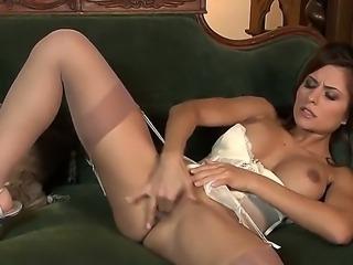 Danni Gee is a lingerie clad