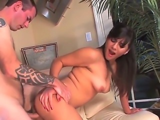 Attractive young amateur brunette Alana Leigh with natural boobs and firm ass...
