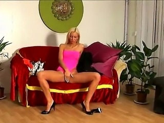 This blonde sex bomb Angelina Love hotly posing for her boyfriend filming her...