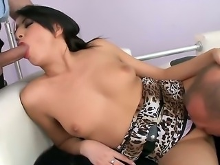 Mysterious brunette Karen lets these two wild boyfriends to unlock her main...