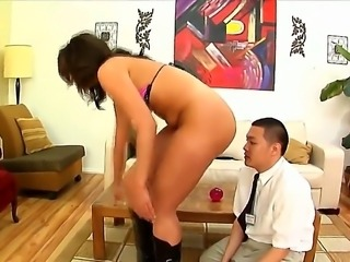Gorgeous and big ass brunette Kelly Divine gets her shaved taco and ass...