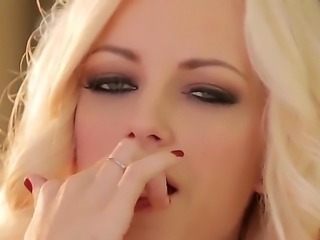 Gorgeous blonde Danielle Trixie with soft milky skin and stunning jucy boobs...