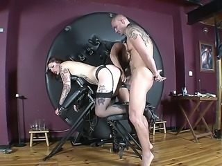 Kinky sexy gets drilled by horny hunk along with ild lesbian slut in nasty...
