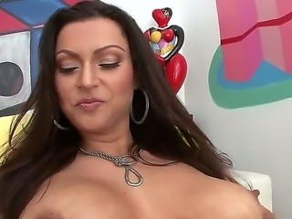 Gorgeous and sexy slut named Nikita Denise shows her big ass and sucks a cock