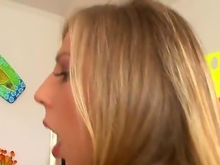 Blonde hottie Chastity Lynn receoves a long dick pounding her tight ass in...