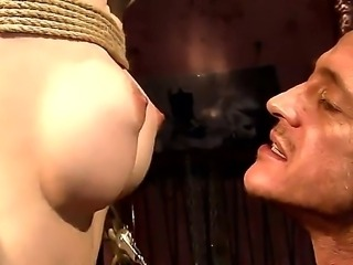 Bounded blonde Isabell Cat gets her beautiful tits tortured during hardcore...