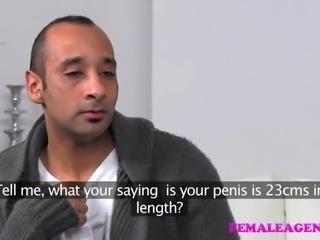 FemaleAgent Massive cock delivers huge creampie inside MILF