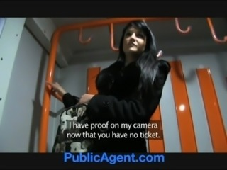 PublicAgent Penelope fucks on the train to avoid the police free