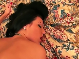 Black haired slut Jade with slim sexy body and provocative cheep tattoo gets...
