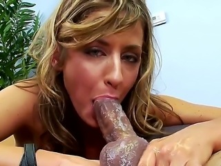 Johnny Fender offering his cream pie for delightful blonde whore Sheena Shaw