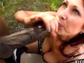 Tiffany Mynx takes on a huge black cock