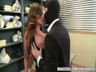 Madison Ivy's perfect ass gets split by her boss's cock free