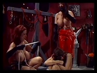Sex slave gets bound with plastic