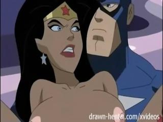 Superhero Hentai - Wonder Woman vs Captain America free