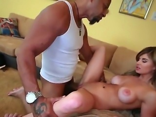 Chloe Chaos takes big black cock for white guy to watch