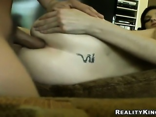 Blonde with huge knockers and clean pussy bares it all and then masturbates...