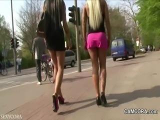 2 German Teens fucking public in Park with voyeur free