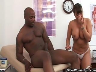 Mature nurse Ava Devine fucked by big black cock free