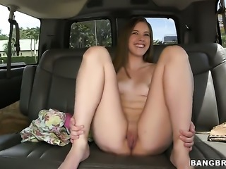 Lia Ezra shows off her assets while giving handjob to a lucky dude