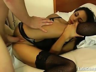 Young Latin babe slammed
