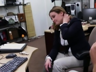 Blonde business woman fucked from behind